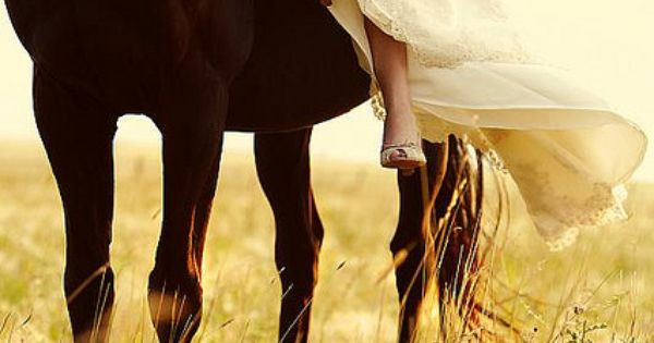 Horse and bride--shoulda done this with my Hershey man :) maybe I