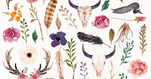 Gorgeous watercolor graphics. Perfect for spring. watercolor graphic