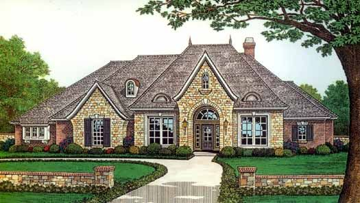 French Country Style House Plans 2927 Square Foot Home 1 Story