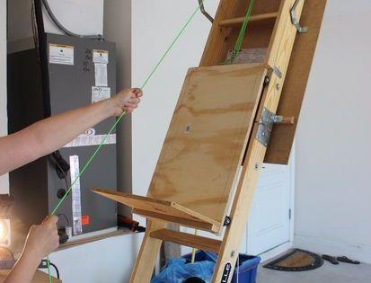 Diy Attic Storage Assistance Attic Ladder Attic Storage