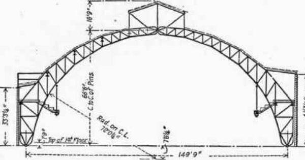 98 The Chicago Coliseum Roof Steel Trusses Roof Truss Design Roof Design