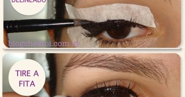 how to make a winged eyeliner using tape