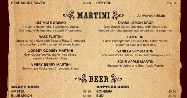 menus - Google Search Bar design Pinterest Dinner menu, Search