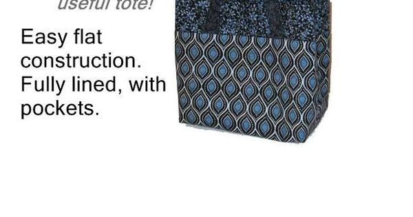 Easy Handbag Pattern : JUST RIGHT TOTE, Easy to sew handbag, download pattern Sewing ? ...
