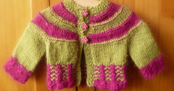Top Down Knitting Pattern Cardigan Jacket Sweater Top Down for Baby & Chi...