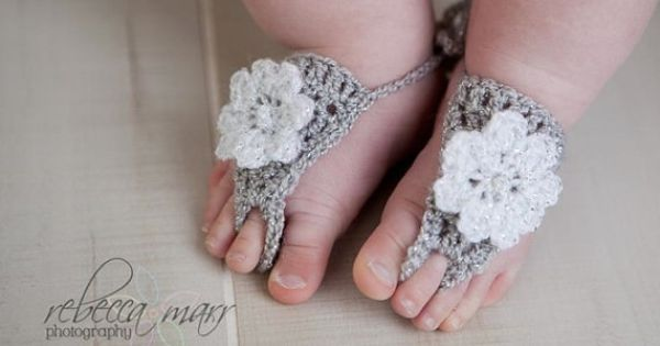 BABY BAREFOOT SANDALS available at www.BehindMyPicketFence.com