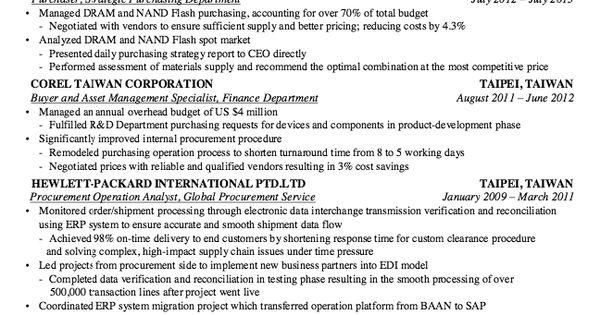 Procurement Service Resume Sample -    resumesdesign - automotive mechanic resume