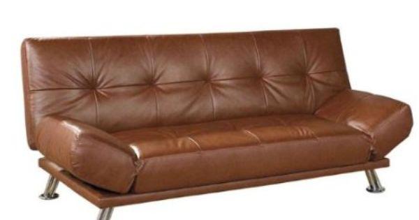 Amazon Com Ore International Leather Futon Sofa Bed Coffee Home