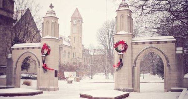 Indiana University Sample Gates In Winter Beautiful Bloomington Indiana Indiana University Bloomington Indiana University