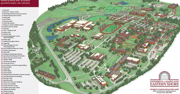 The UMES campus as six dorms for in ing freshmen an outdoor