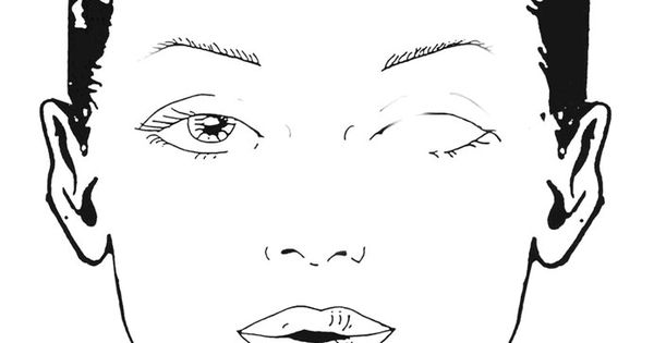 blank female face template - photo #26