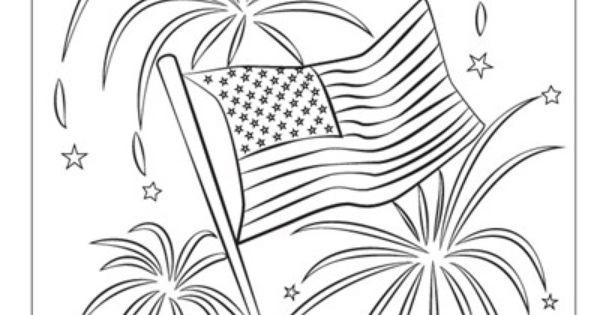 patriotic fireworks usa coloring