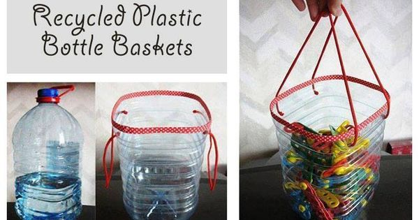Recycled Plastic Bottle Basket Use Duck Tape In A Nice