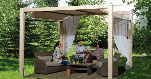 pavillon weka gartenoase 235 mit planendach kaufen im. Black Bedroom Furniture Sets. Home Design Ideas