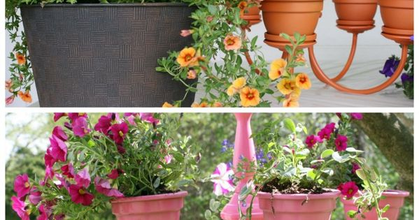 DIY How to make a chandelier planter tutorial