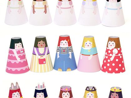 Mr Printables | Free Printables for Kids paper cone girls