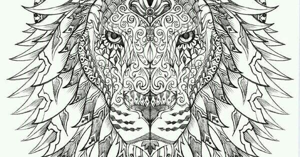 zentangle lion tattoo ideas pinterest inspirierende tattoos selber malen und tattoo ideen. Black Bedroom Furniture Sets. Home Design Ideas