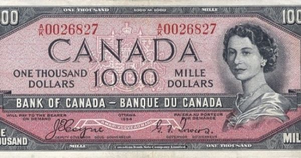 I Saw One Of These When I Was A Child At First I Thought It Was A 2 Dollar Bill Because Of The Colour I Even Dollar Banknote Canadian Money Canadian Dollar