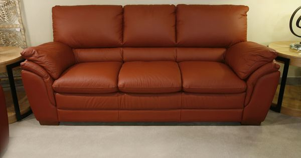 Terracotta Leather Sofa Bernie And Phyls Mixed Modern Living Pinterest Sofas