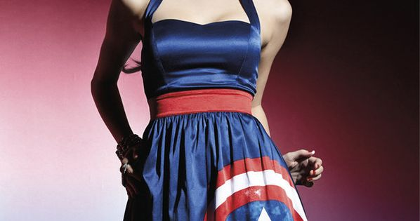 Captain America Halter Dress $59.50 | Hot Topic Just Unveiled A Fan-Designed