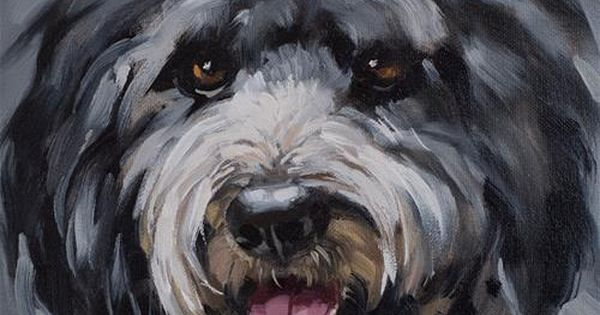 "Daily Paintworks ""Black Schnoodle"" Original Fine Art"
