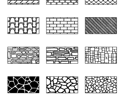 draw your own texture sheets using these tile and brick patterns with clay from artyfactory. Black Bedroom Furniture Sets. Home Design Ideas