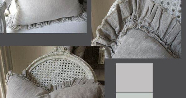 Lovely ideas for shabby chic pillows des rideaux for Linge de maison shabby chic
