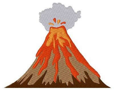 Volcano Embroidery Design With Images Embroidery Designs