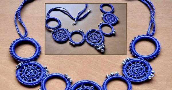 Beach sandals - Collar Anillas Azul