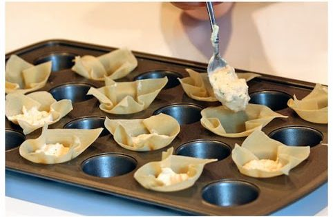 Crab Rangoon Cups Appetizer Baked At 350f And Made