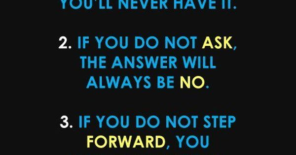 3 Simple Rules Always go after what you want! Always ...