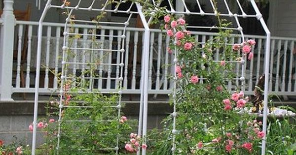 Dishfunctional designs rose arbor made from an old iron for Dishfunctional designs garden