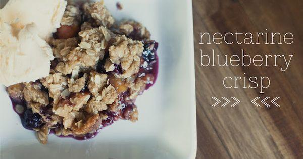 ... : nectarine blueberry crisp. | sweet treats | Pinterest | Blueberries