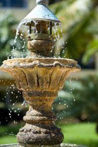 How To Waterproof A Fountain Diy Garden Fountains Garden Fountains Patio Water Fountain