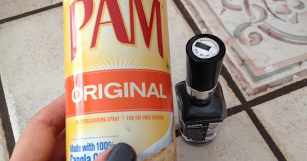 Dry nails. Spray PAM on wet nails, wipe it off, theyre completely
