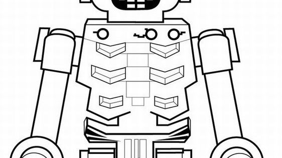 Golden Ninja Lego Coloring Page