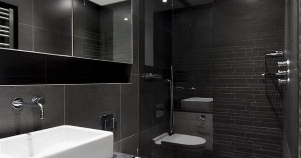 badezimmer schiefergrau anthrazit fliesen begehbare dusche glaswand bad pinterest bad. Black Bedroom Furniture Sets. Home Design Ideas