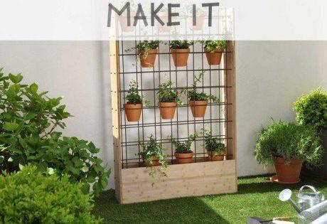 Diy Fabriquer Un Mur Vegetal D Exterieur Mur Vegetal Mur Vegetal Exterieur Mur Vegetal Palette
