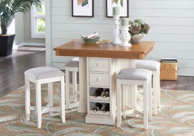 Shop For A Coventry Lane Cream 5 Pc Bar Height Dining Set At Rooms To Go Find Dining Room S Rooms To Go Furniture Dining Room Sets Affordable Dining Room Sets