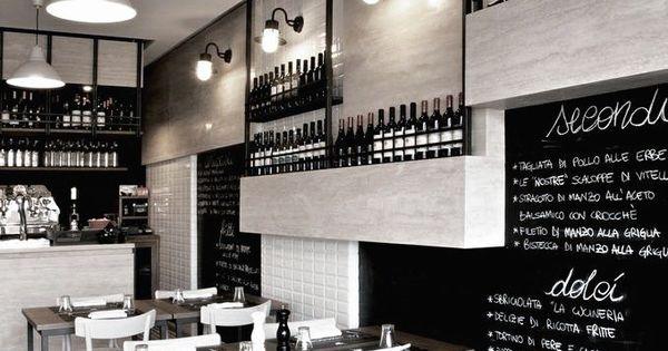 Vista della parete attrezzata caf s et restaurants - La cucineria roma ...