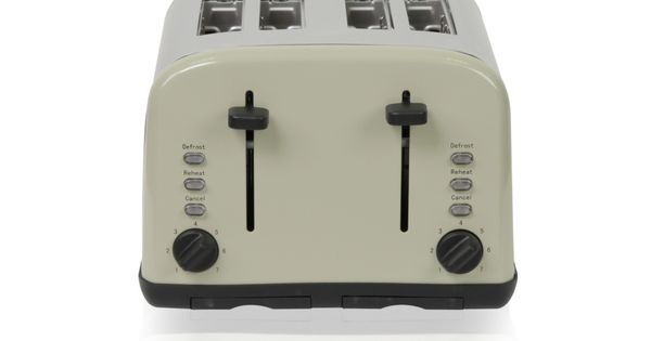 putty coloured toaster from george home asda. Black Bedroom Furniture Sets. Home Design Ideas
