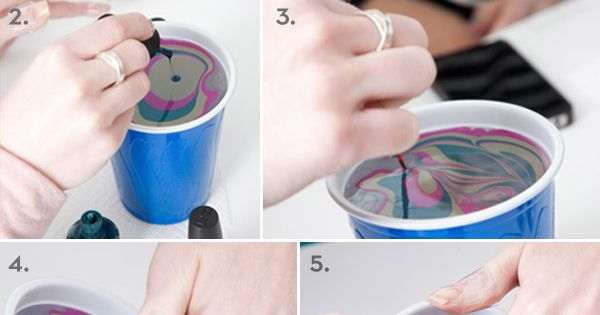 DIY marble nail art, a must try. Click image for more details