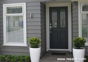 A Simple But Elegant Exterior And Interior Colour Scheme Exterior Paint Colors For House Facade House House Paint Exterior