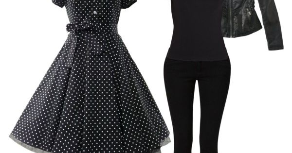 I would wear the heck out of this black polka dot dress