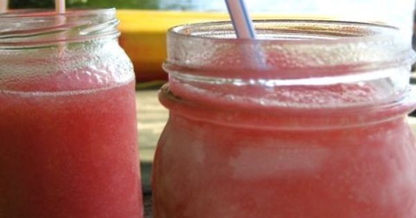 Strawberry Limeade. Perfect summer drink! Blend 1 can frozen limeade, 1/2 can