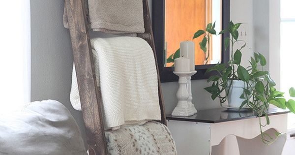 Roundup 5 Decorative Uses For Ladders Blanket Ladder Blanket Storage And Living Rooms