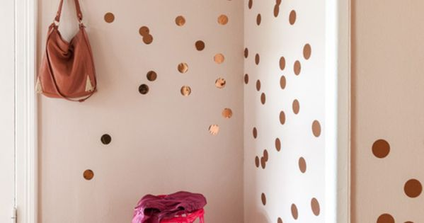 wand deko kupfer konfetti 30er set ein designerst ck. Black Bedroom Furniture Sets. Home Design Ideas