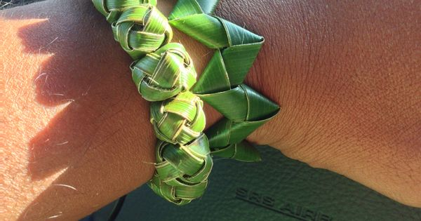 Woven Palm Frond Bracelets Weaving Art Palm Frond