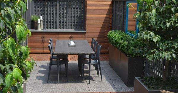 Am Nagement Petit Jardin Dans L Arri Re Cour Id Es Modernes Terrasse En Bois Composite