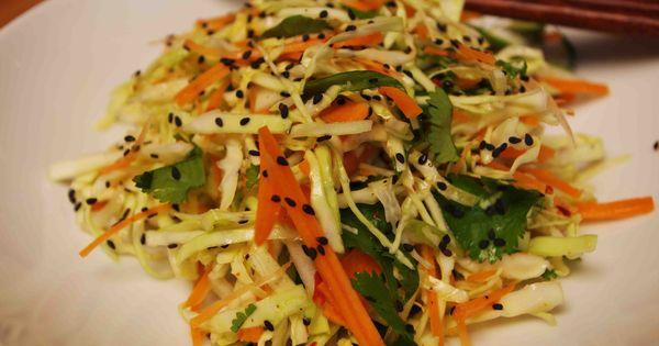 Spicy Asian Coleslaw | Recipe | Asian Coleslaw, Coleslaw and Spicy